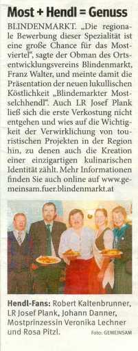 Mostselchhendl Bezirksblatt